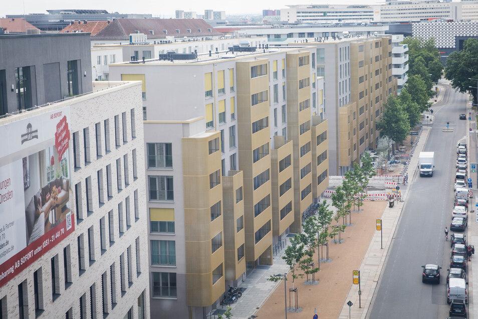 In den vergangenen Jahren sind diese Neubauten zwischen der Marien- und der Wallstraße entstanden.