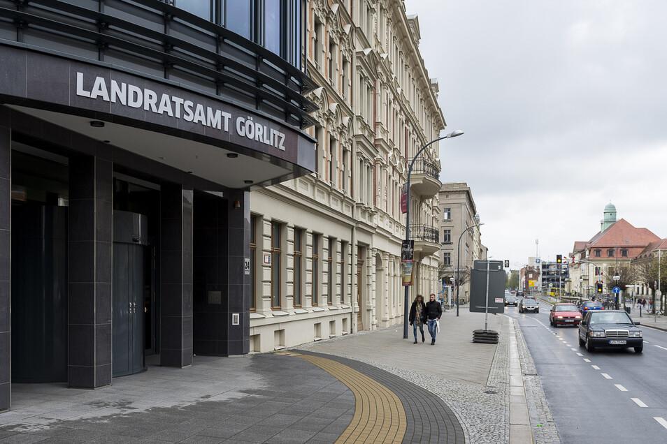 Das Landratsamt an der Görlitzer Bahnhofstraße: Hier ging die Drohmail ein.