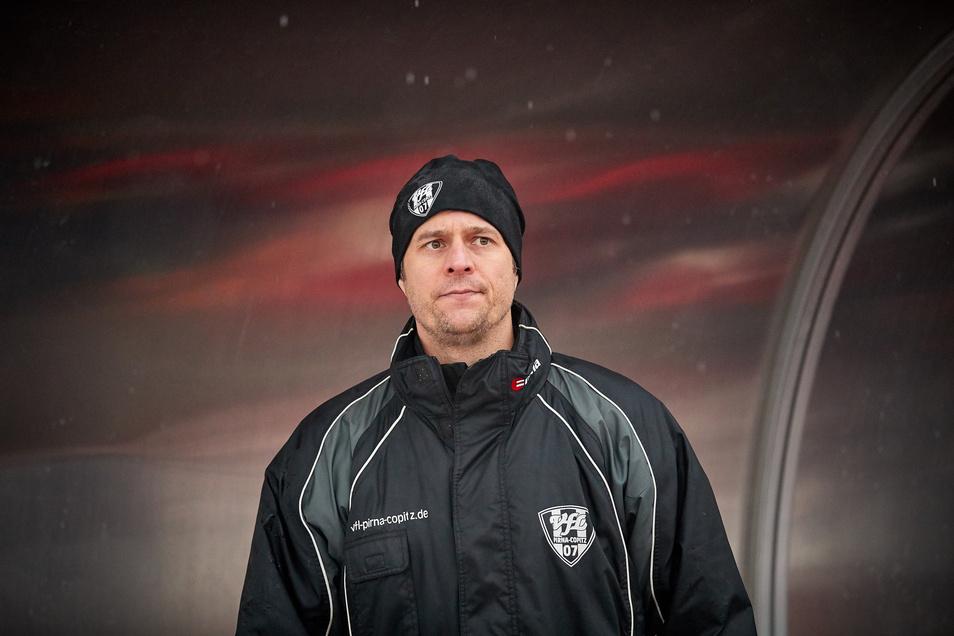 Pirnas Frank Paulus (41), der in Copitz gemeinsam mit Enrico Mühle das Übungsleiter-Duo bildet.