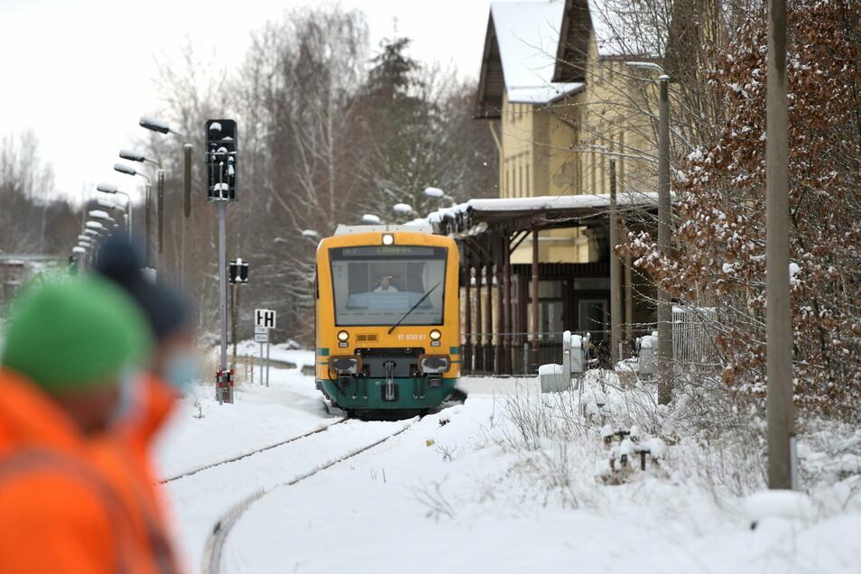 Rollt vielleicht schon ab März wieder der Zug über die deutsch-tschechische Grenze in Seifhennersdorf?