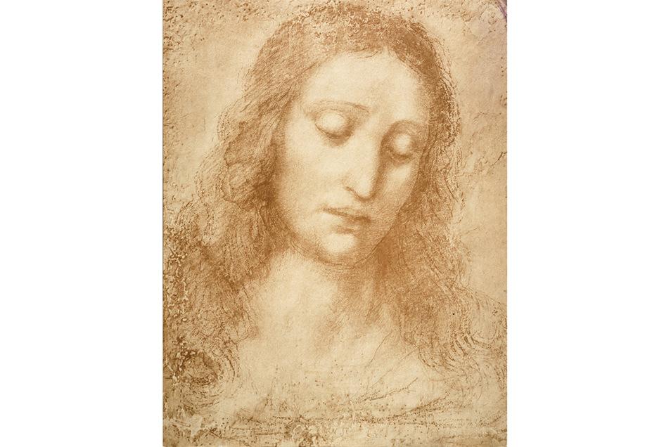 """Porträtkunst: Jesus, eine Studie für das """"Abendmahl"""""""