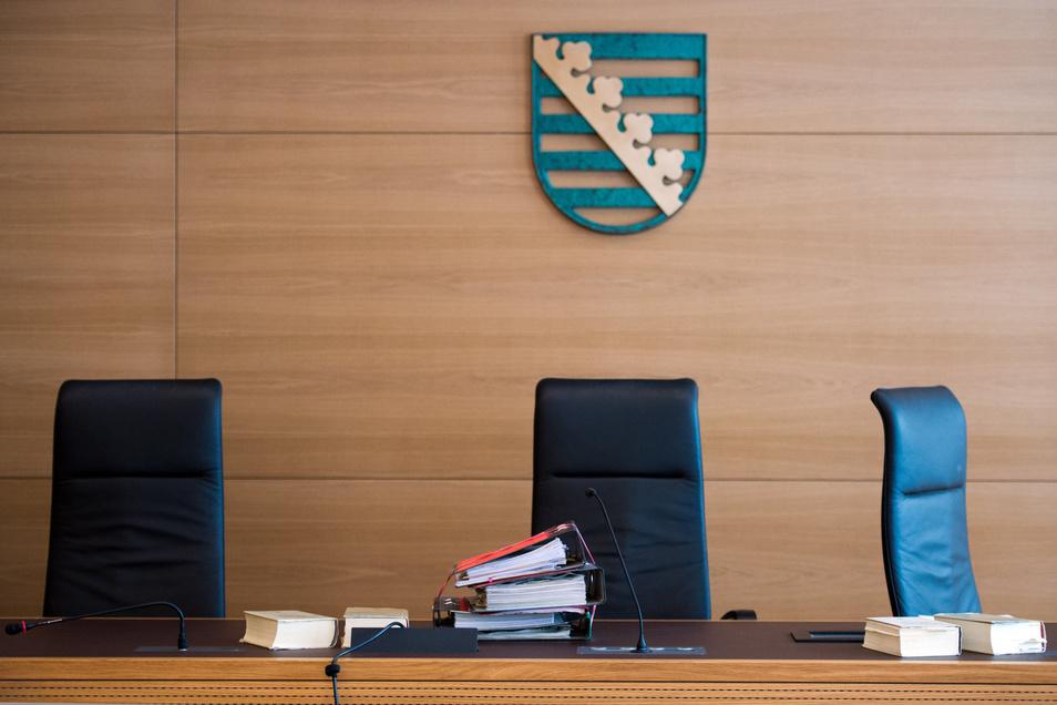 Blick in einen Verhandlungssaal am Landgericht Dresden.