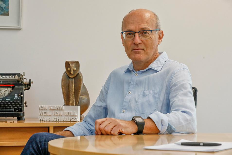 Wolfgang Zürn ist Vorstand der Volksbank Löbau-Zittau.