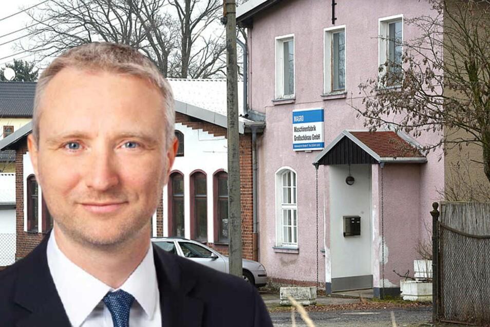Insolvenzverwalter Frank Milimonka kümmert sich jetzt um das, was von der traditionsreichen Magro Maschinenfabrik in Großschönau übrig ist: Schulden.