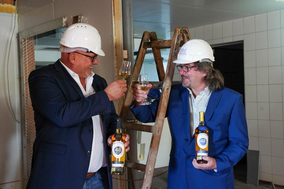 Thomas Michalski und Frank Leichsenring machen mit Whisky ihren eigenen Hochgenuss zum Geschäft.