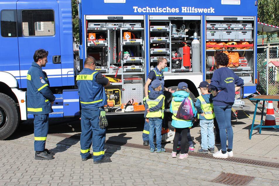 Tag der offenen Tür beim THW Pirna: Gerüstet für beinahe jeden Katastrophenfall.
