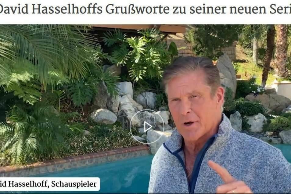 In einem Video bestätigt David Hasselhoff (68), dass er nach Deutschland kommt.