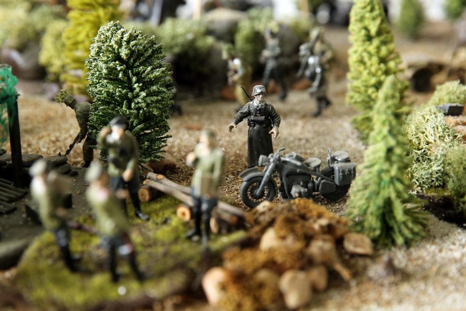 Ein Modell im künftigen Museum in Königsbrück zeigt die Situation auf dem ehemaligen Militärgelände.