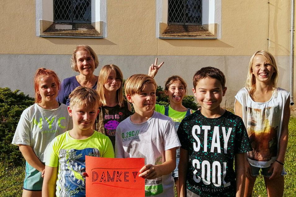 Die Christenlehrekinder in Maxen bedanken sich bei allen Unterstützern.