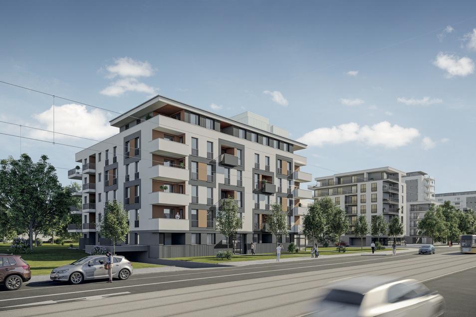 An der Freiberger Straße 8 entsteht ein neues Vonovia-Wohnhaus.