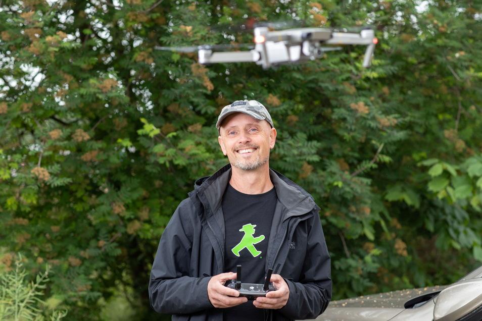 Mit seiner Drohne ist Dietmar Thomas häufiger unterwegs. Auch das Siegerfoto ist mit ihr entstanden.