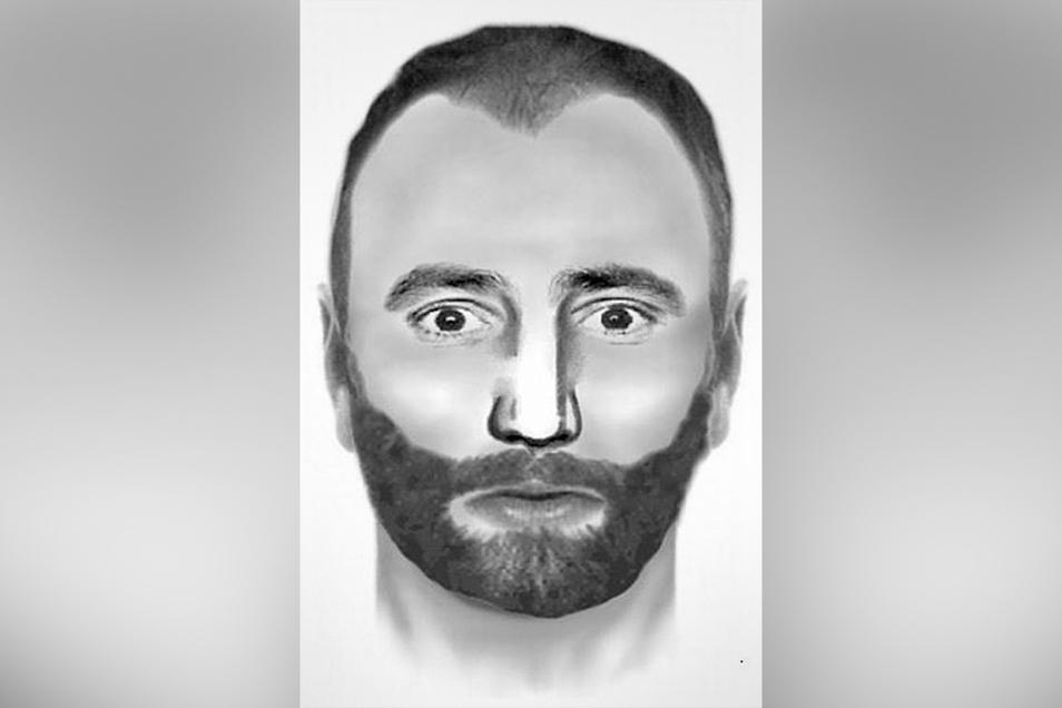 Die Polizei sucht nach diesem Mann, der eine Frau durch exhibitionistische Handlungen bedrängt haben soll.