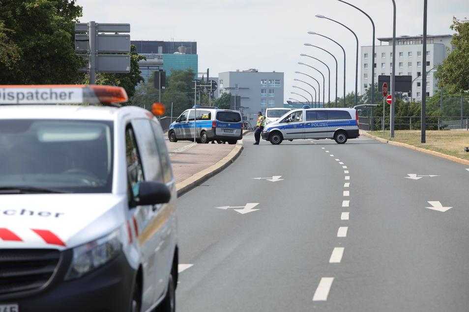 Die Budapester Straße musste in Richtung Innenstadt gesperrt werden.