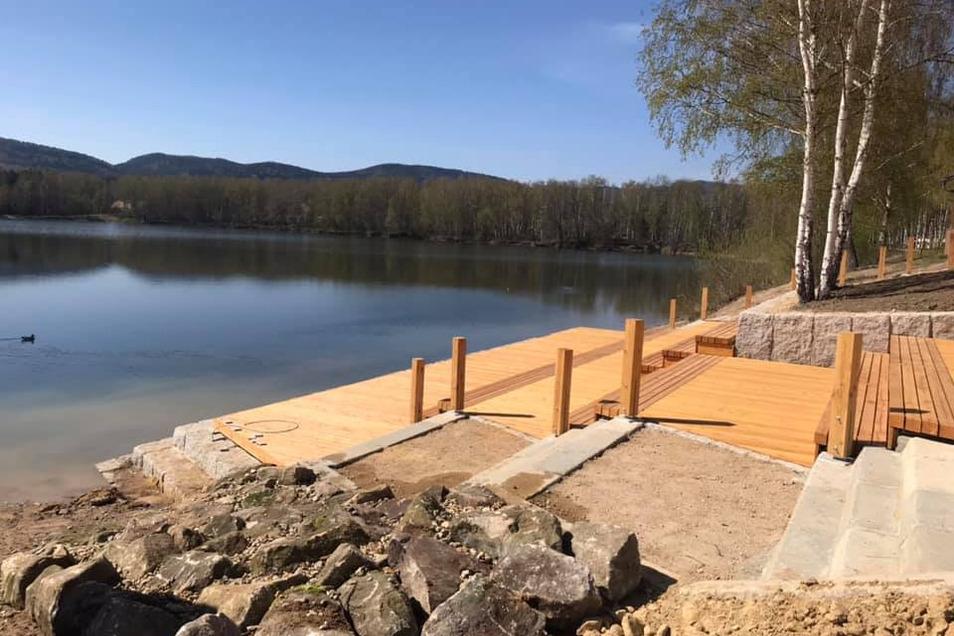 Die Stadt Hradek hat 200.000 Euro am Krystina-See investiert. Den sollen bald auch wieder Gäste aus dem Dreiländereck besuchen.
