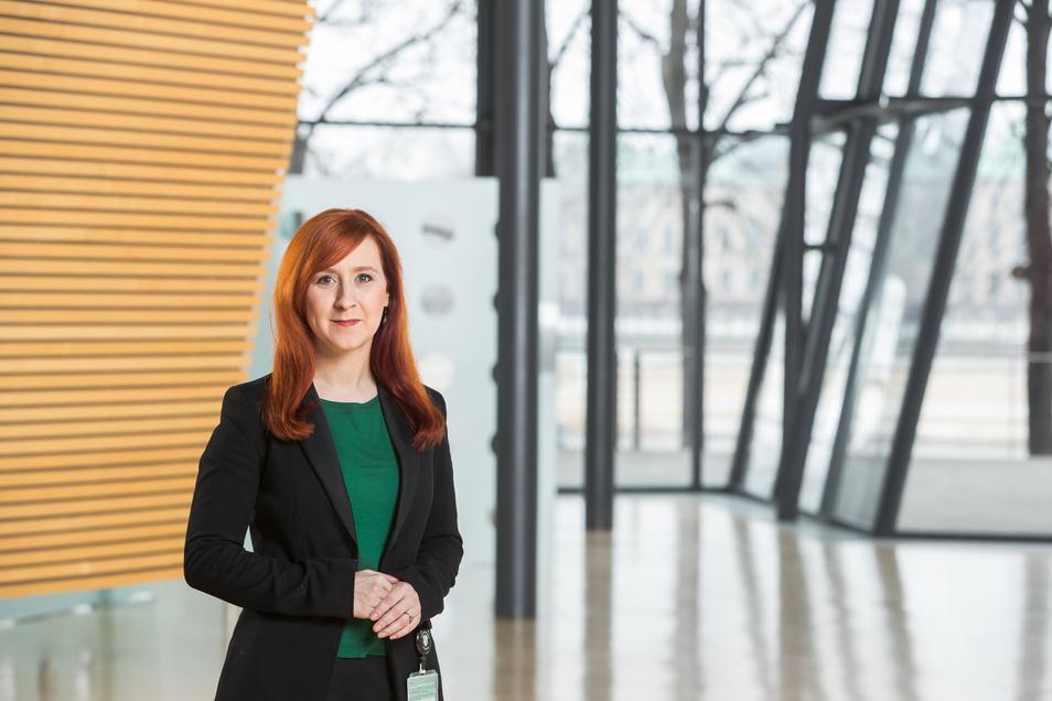 Franziska Schubert im Landtagswahlkampf 2019. Sie ist inzwischen Vorsitzende der Fraktion, die mit in der Regierung sitzt.