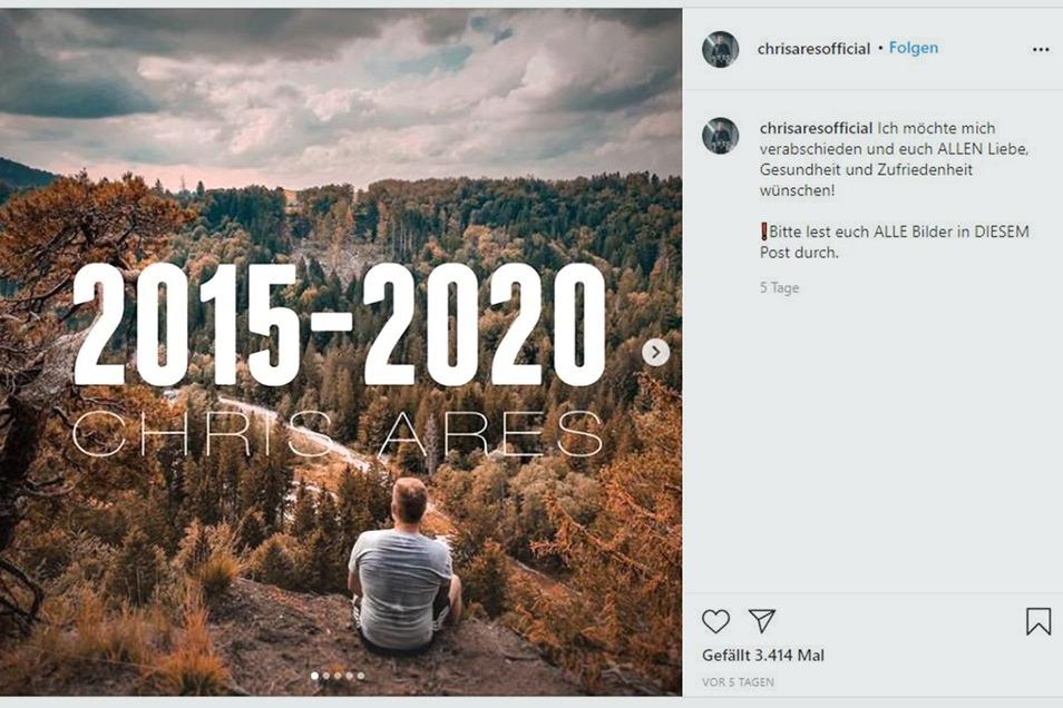 Am 25. September verkündete Chris Ares in sozialen Medien sein Karriere-Aus.