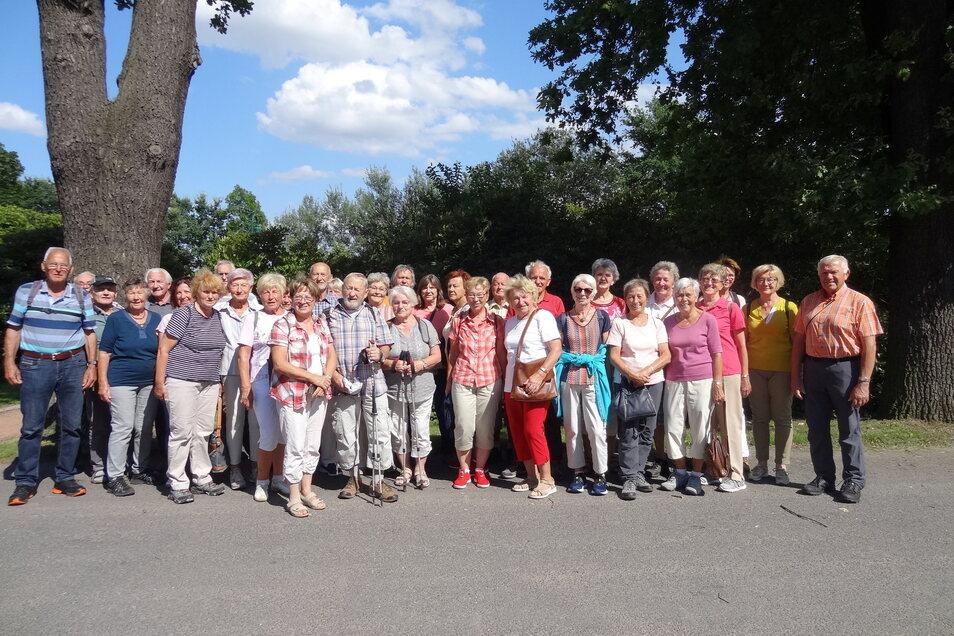 Mehr als 40 Wanderer trafen sich im Juli zum Wanderjubiläum.