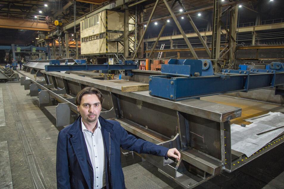 Obwohl es den Stahl- und Brückenbau Niesky faktisch nicht mehr gibt, hat Insolvenzverwalter Ralf Hage noch immer alle Hände voll zu tun. Das wird in den nächsten Jahren auch so bleiben.