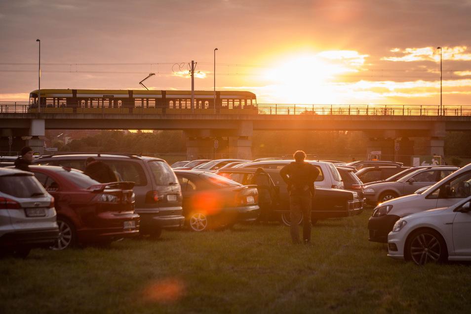 Noch bis Dienstag wird in der Flutrinne ein Autokino veranstaltet.