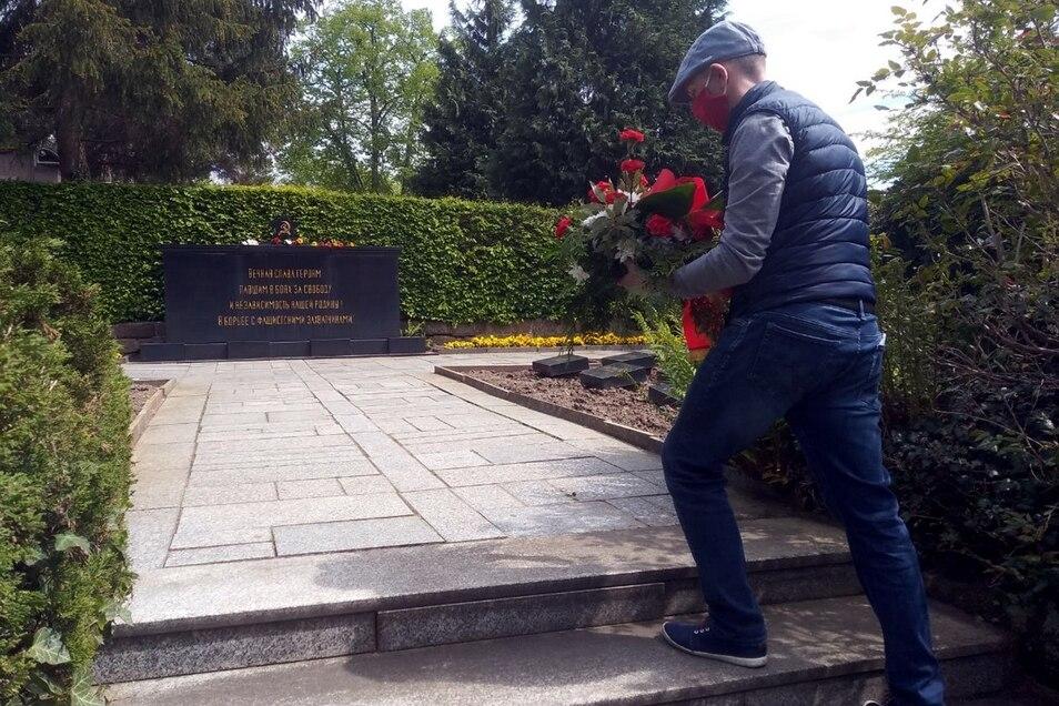 Am Frauenfriedhof gedachte die Zittauer Linke der Befreiung.