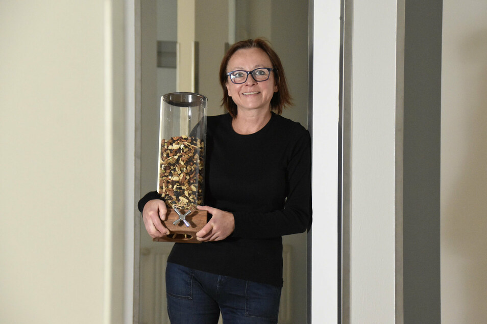 Lose-Inhaberin Berit Heller in den noch leeren Räumen ihres neuen Domizils.