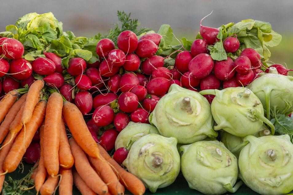 Frisches Gemüse aus der Region gehört zu den Produkten, die jetzt wöchentlich bei der Marktschwärmerei in Bautzen angeboten werden.