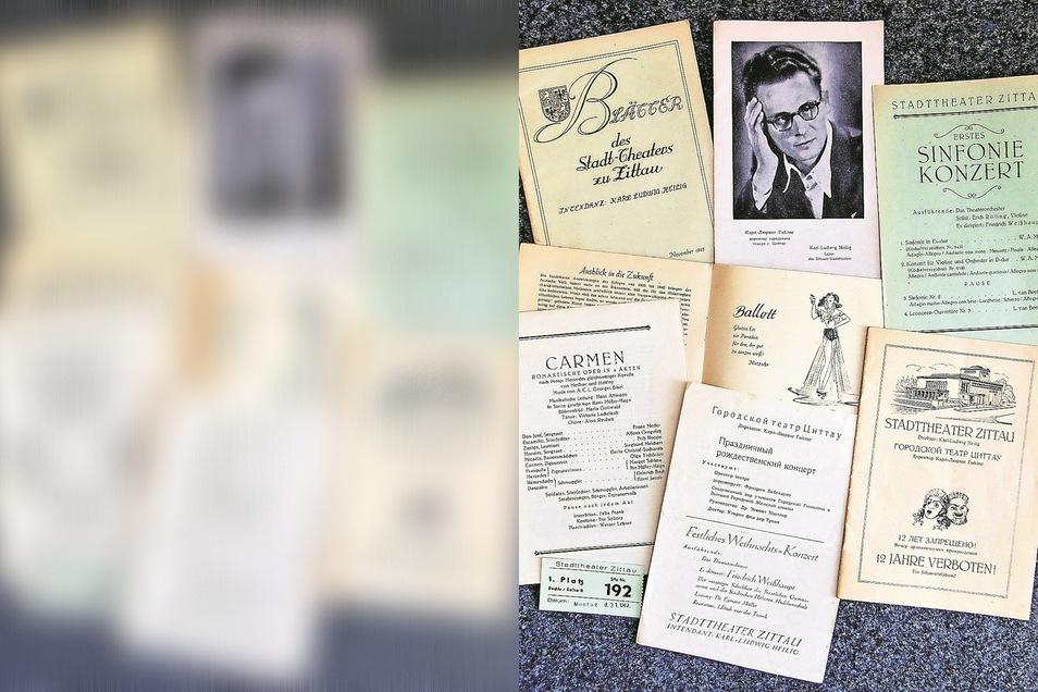 Vom Neubeginn 1945 zeugen diese Programme und Prospekte. Theaterleiter war zu dieser Zeit Karl-Ludwig Heilig.