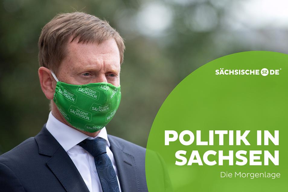 Ministerpräsident Michael Kretschmer (CDU) muss nach der langen Bund-Länder-Runde heute in der Kabinettssitzung des sächsischen Landtages die richtigen Worte finden.