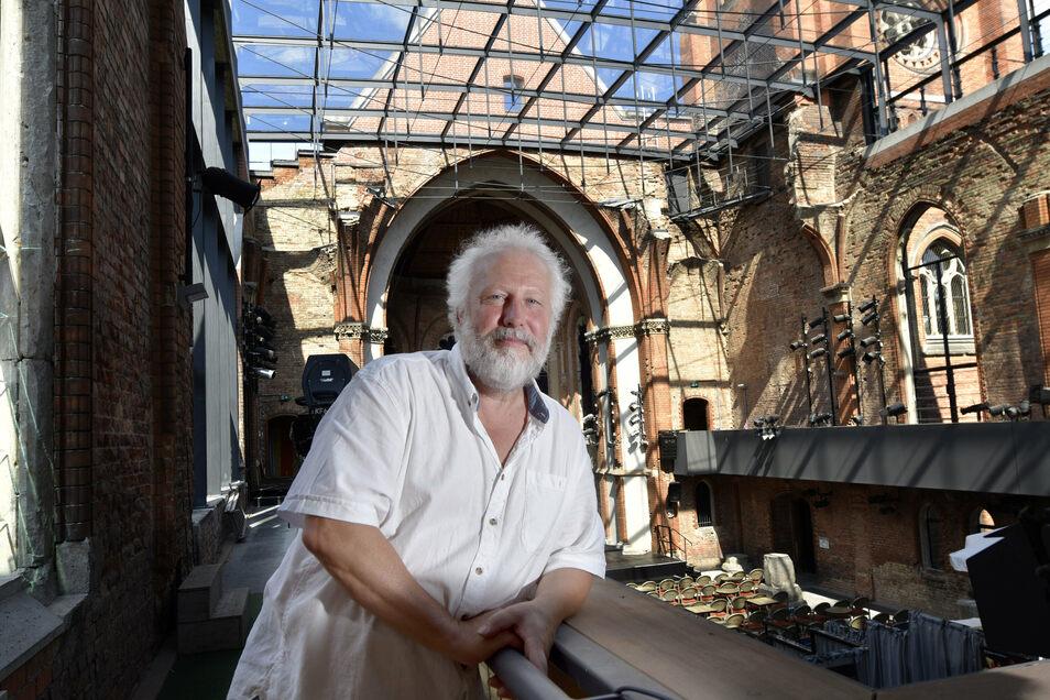 Intendant Jörg Berger kämpft gemeinsam mit seinen Mitstreitern gegen den Verlust der Ruine als Spielort
