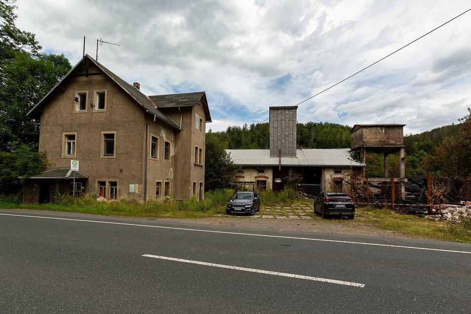 Hier an der ehemaligen Hammermühle in Bärenstein soll die Güterverladestation gebaut werden.