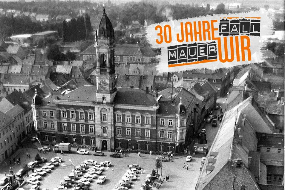 Das Rathaus 1990...