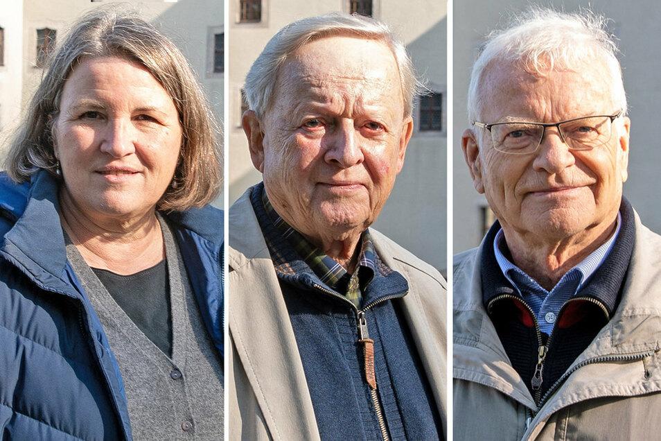 Zeitzeugen auf der Festung Königstein zu 30 Jahre Deutsche Einheit: (v.l.) Katja Metz, Helmut Cedra und Dr. Martin Kupke.