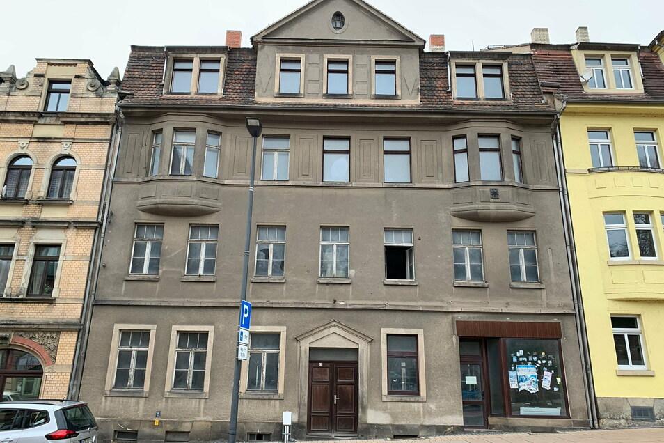 Das Haus Hauptstraße 17 vor der Sanierung: Seit 2007 stand das Gebäude vollständig leer.