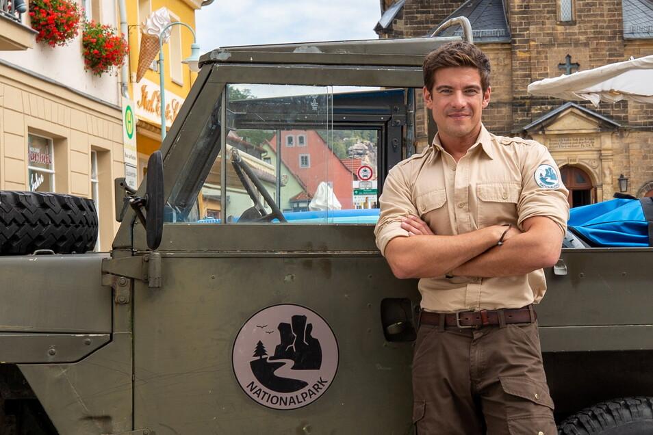 """Stürzt sich ins nächste Abenteuer: """"Ranger"""" Jonas Waldek, der von Philipp Danne gespielt wird."""