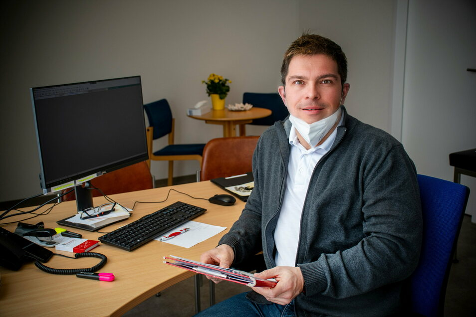 Carsten Bölke, Facharzt für Psychiatrie und Psychotherapie, behandelt mit seinem Team im Versorgungszentrum der Edia.med an der Bahnhofstraße Patienten mit psychischen Erkrankungen. Die Stelle war ein Jahr unbesetzt.