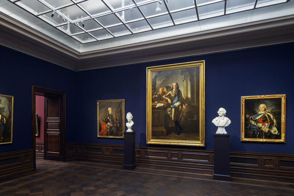 Blick in die Dresdner Sempergalerie mit Gemälden Alter Meister und Skulpturen bis 1800. Das Museum ist dienstags bis sonntags von 11 bis 17 Uhr geöffnet, freitags bis 20 Uhr.