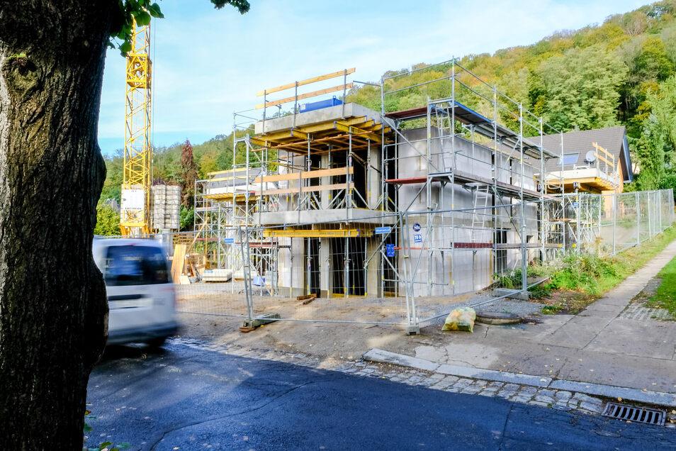 Wenn in Radebeul gebaut wird, so wie hier am Augustusweg, gibt es immer wieder Diskussionen.