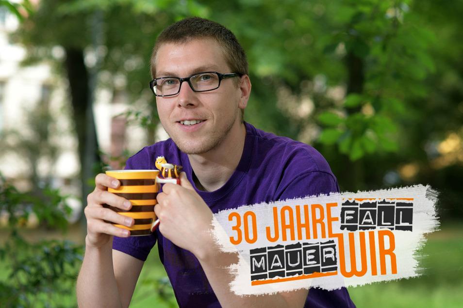 Johannes Gersten im Döbelner Wettinpark. Es ist auch der in der Nähe ansässige Verein Treibhaus, der den 30-Jährigen in Döbeln gehalten hat. Mit 17 Jahren ist er aktiv in den Verein eingestiegen.