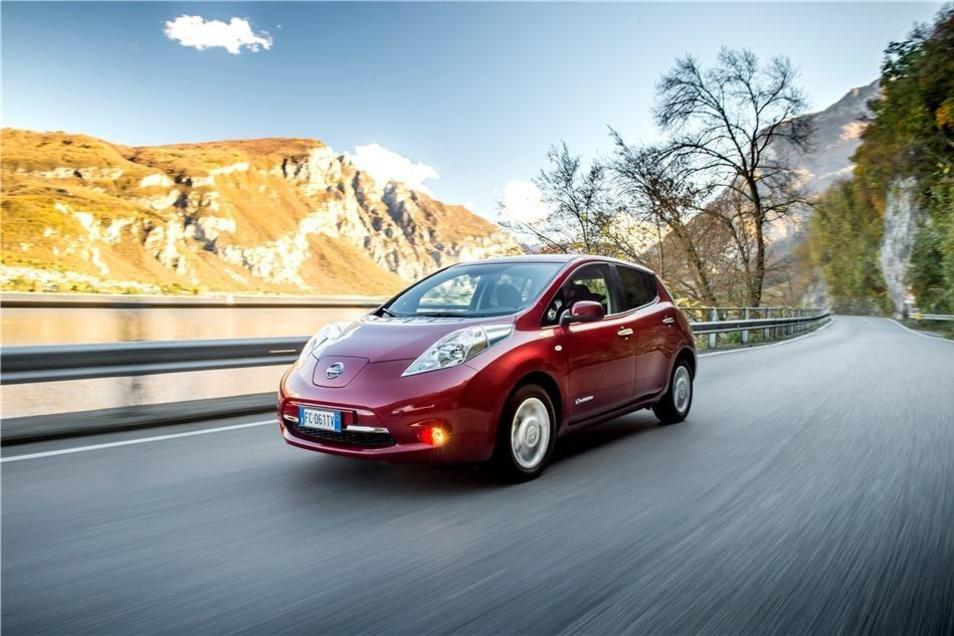 Unter den in Dresden zugelassenen E-Autos sind auch 19 Wagen von Nissan. Die Japaner haben mit dem Leaf das weltweit meistverkaufte Elektrofahrzeug im Programm.
