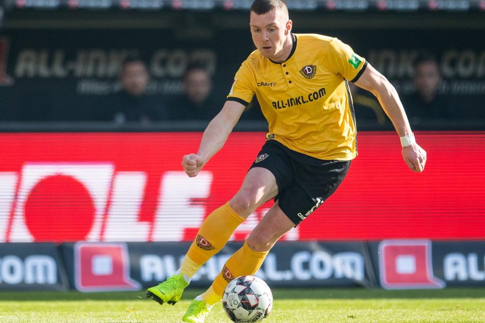 Im Februar 2019 war Haris Duljevic noch für Dynamo Dresden am Ball.