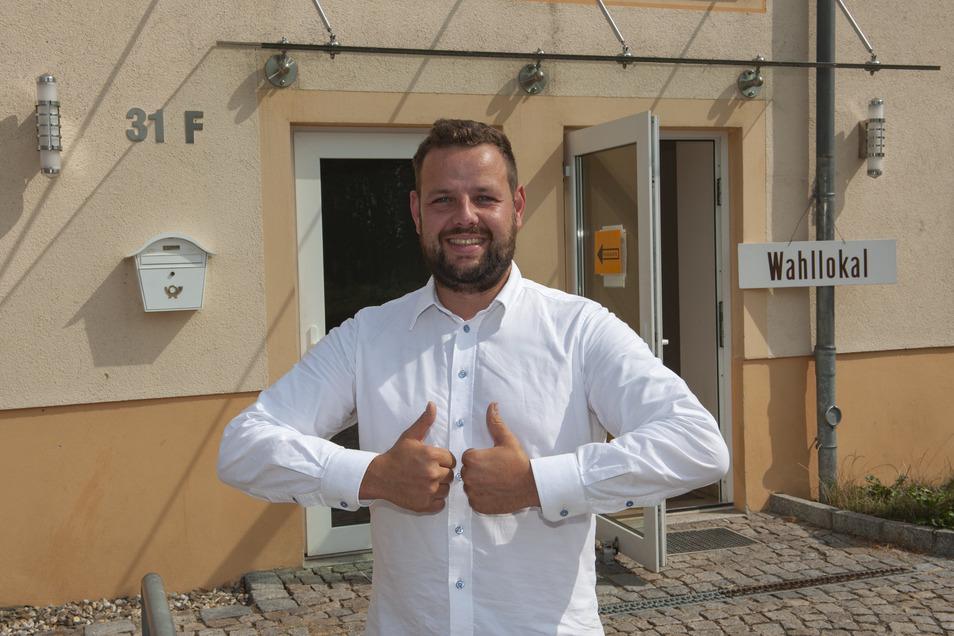 Hat allen Grund zum Jubeln: Seinen Landtagssitz hat Christdemokrat Sebastian Fischer zwar eingebüßt. Aber gewonnen hat er jetzt den Vorsitz im Kreisverband Meißen.