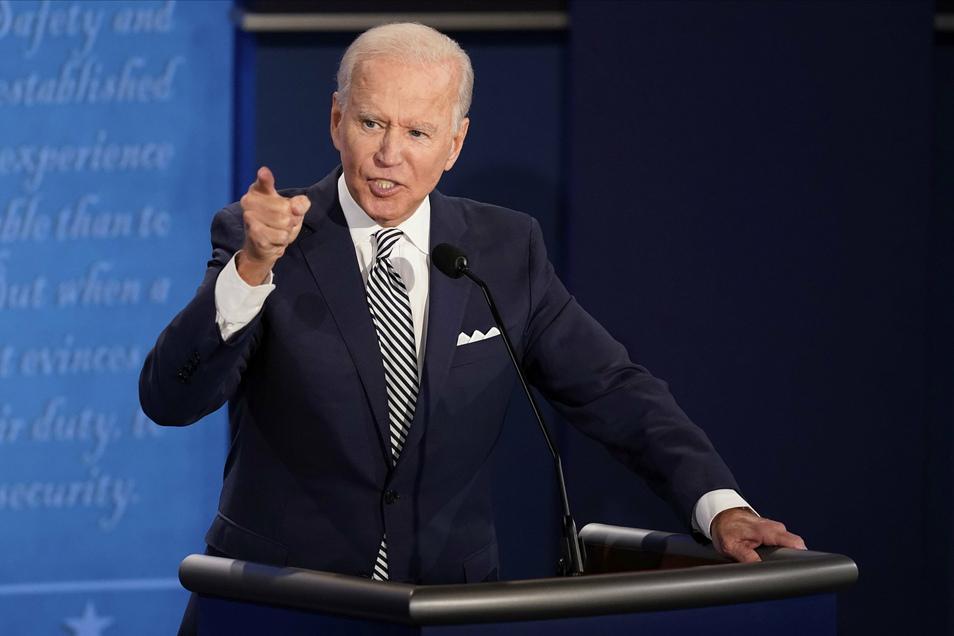 Joe Biden, Präsidentschaftskandidat der Demokraten, spricht während der ersten Präsidentschaftsdebatte.