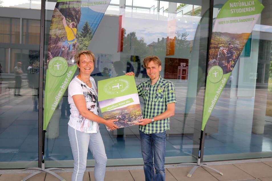 Sie organisieren den Tag der Umwelt: Energieteam-Leiterin Ines Hirt von der Stadt Zittau und Hochschul-Umweltkoordinator Eric Schön.