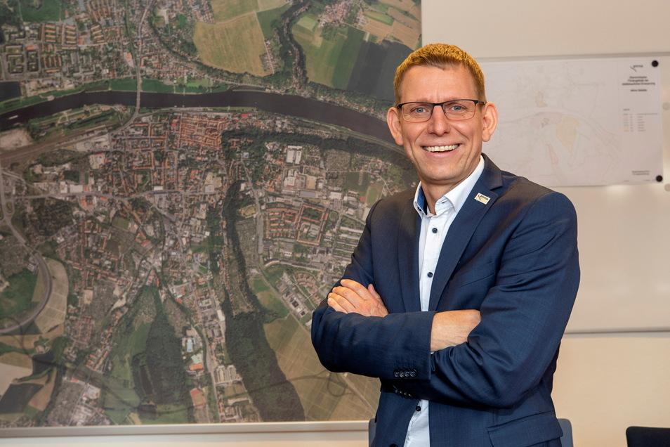 Neues Amt, neue Wirkungsstätte: Glashüttes früherer Bürgermeister ist nun Beigeordneter in Pirna.