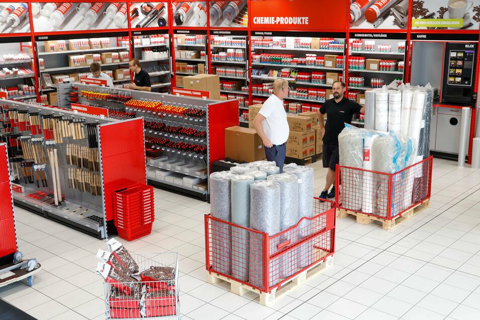 Die Anordnung der Produkte ist in jeder Würth-Filiale gleich. So können sich auch Kunden aus der Ferne sofort zurechtfinden.