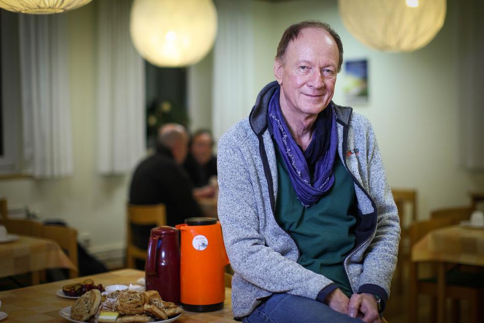 Der Koordinator der Dresdner Nachtcafés Gerd Grabowski