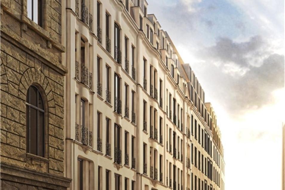 Dieser Entwurf der Berliner Nöfer-Architekten für das Palais Riesch gewann im Fassaden-Wettbewerb.