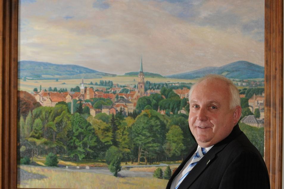 Löbaus ehemaliger Oberbürgermeister Dietmar Buchholz.