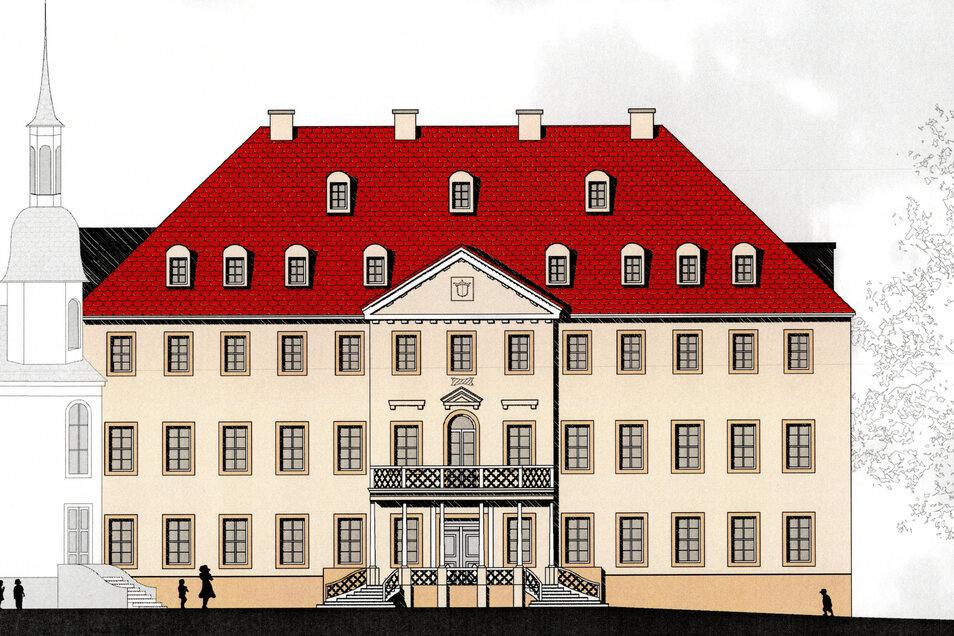 So könnte das alte Braunaer Schloss wieder aussehen, wenn alles klar läuft. Der Verein der Alternativschule schloss vor wenigen Tagen mit der Eigentümerin eine Vereinbarung zur langfristigen Nutzung des Objekts ab.