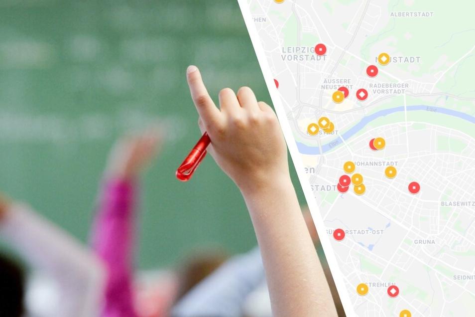 Mehr als 200 Schüler und Lehrer in Dresden befinden sich aktuell in Quarantäne.